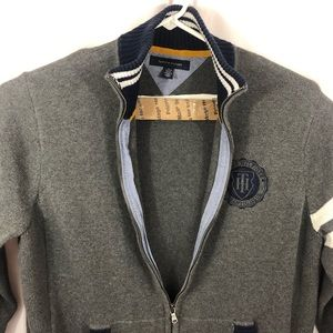Tommy Hilfiger Sweaters - Tommy Hilfiger Men's Varsity Sweater Zip Up